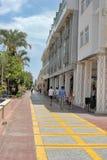 Via di Pedestrianized in Kemer Fotografie Stock Libere da Diritti