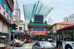 Via di Petaling, Chinatown, Kuala Lumpur, Malesia Immagini Stock Libere da Diritti