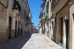 Via di piccola città in Maiorca Immagine Stock Libera da Diritti