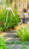Via di pietra in giardino Immagine Stock