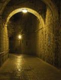 Via di pietra nella vecchia città Immagini Stock Libere da Diritti
