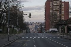 Via di Pilota Mihaila Petrovica in rakovica Belgrado Serbia fotografia stock libera da diritti