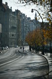 Via di Praga, repubblica Ceca Fotografia Stock Libera da Diritti