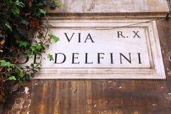 Via di Roma Fotografia Stock Libera da Diritti