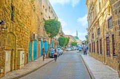 Via di Salah Al-Din in San Giovanni d'Acri fotografia stock libera da diritti