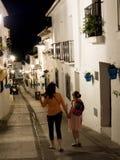 Via di San Sebastian a Mijas una di villaggi 'bianchi' più bei di Andalusia Fotografie Stock Libere da Diritti