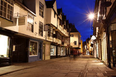 Via di sera a York Fotografie Stock