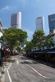 Via di Singapore Fotografia Stock Libera da Diritti