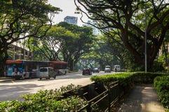 Via di Singapore Fotografie Stock Libere da Diritti