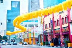 Via di Singapore Chinatown Immagini Stock