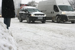 Via di Snowy Fotografia Stock Libera da Diritti