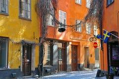 Via di Stoccolma Fotografie Stock Libere da Diritti