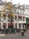 Via di Strøget, Copenhaghen Danimarca immagini stock libere da diritti