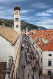 Via di Stradun in Città Vecchia di Ragusa immagini stock libere da diritti