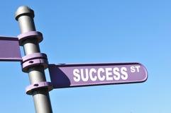 Via di successo Immagine Stock