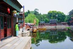 Via di Suzhou nel palazzo di estate Fotografia Stock Libera da Diritti