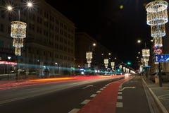 Via di Swietokrzyska a Varsavia Immagine Stock