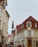 Via di Tallin Città Vecchia fotografie stock libere da diritti