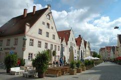 Via di Theresienstrasse a Ingolstadt in Germania Fotografie Stock Libere da Diritti