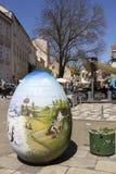 Via di Tkalciceva nella capitale di Zagabria della Croazia Immagini Stock