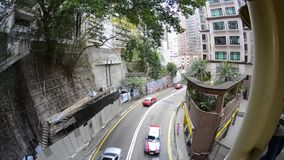 Via di traffico di Canton Canton congestionato il traffico stradale Guangzhou, porcellana - il tempo occupato, automobili ha ammu stock footage