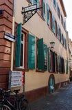 Via di Untere a Heidelberg Fotografie Stock