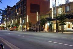Via di Vancouver Fotografia Stock
