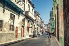 Via di vecchia Avana fotografia stock