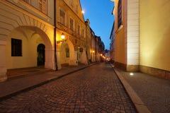 Via di vecchia città Fotografie Stock