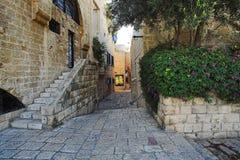 Via di vecchia città del Jaffa Fotografia Stock Libera da Diritti