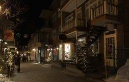 Via di vecchia città della Quebec Immagini Stock