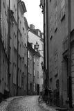Via di vecchia città di Stoccolma Fotografie Stock Libere da Diritti