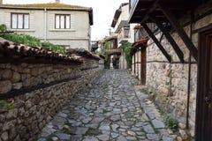 Via di vecchia città Nessebar Immagine Stock Libera da Diritti