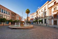 Via di vecchia città spagnola. fotografia stock