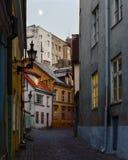 Via di vecchia città di Tallinn Fotografia Stock Libera da Diritti