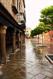 Via di Venezia nella pioggia Immagine Stock