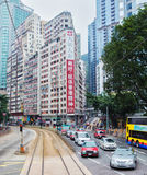 Via di Wan Chai, Hong Kong Fotografia Stock Libera da Diritti