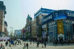 Via di Wangfujing, Pechino Fotografia Stock Libera da Diritti