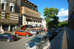 Via di Zvezdinka nel centro di Nižnij Novgorod Fotografia Stock