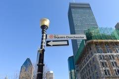 Via diQuadrato-Dorchester a Montreal del centro Fotografia Stock Libera da Diritti