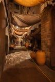 Via in distretto gotico di Barcellona alla notte Fotografia Stock Libera da Diritti