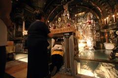 Via Dolorosa, 12de Posten van het Kruis jeruzalem Royalty-vrije Stock Foto's