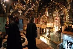 Via Dolorosa, 12de Posten van het Kruis jeruzalem Stock Afbeeldingen