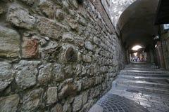 Via Dolorosa, Jerusalem. The 8th Station of Christ on the Via Dolorosa, Jerusalem, Israel royalty free stock photo