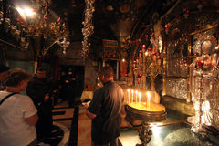 Via Dolorosa 12th stationer av korset jerusalem Royaltyfria Bilder