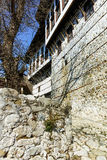 Via e museo che di pietra il Kordopulov alloggia nella città antica di Melnik, Bulgaria Fotografia Stock