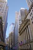 Via e Skyscapers di New York Fotografia Stock Libera da Diritti