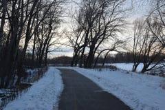 Via eliminata nell'inverno Fotografie Stock