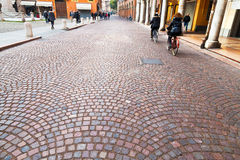 Via Emilia - ancient street in Modena, Italy Stock Images