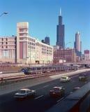 A via expressa Chicago Illinois de Eisenhower Imagens de Stock